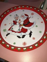 Mr. And Mrs. Clause Aluminum Santa Plate - $11.76