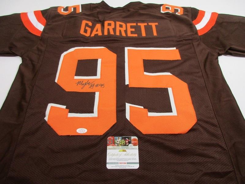 myles garrett signed jersey