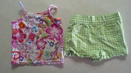 Girl's Size 12 M Months Two Piece Outfit TCP Place Tank Top & Garanimals Shorts - $8.00