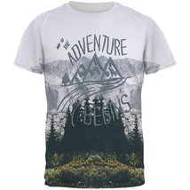 Hiking Mountains So The Adventure Begins All Over Mens T Shirt - $26.95+