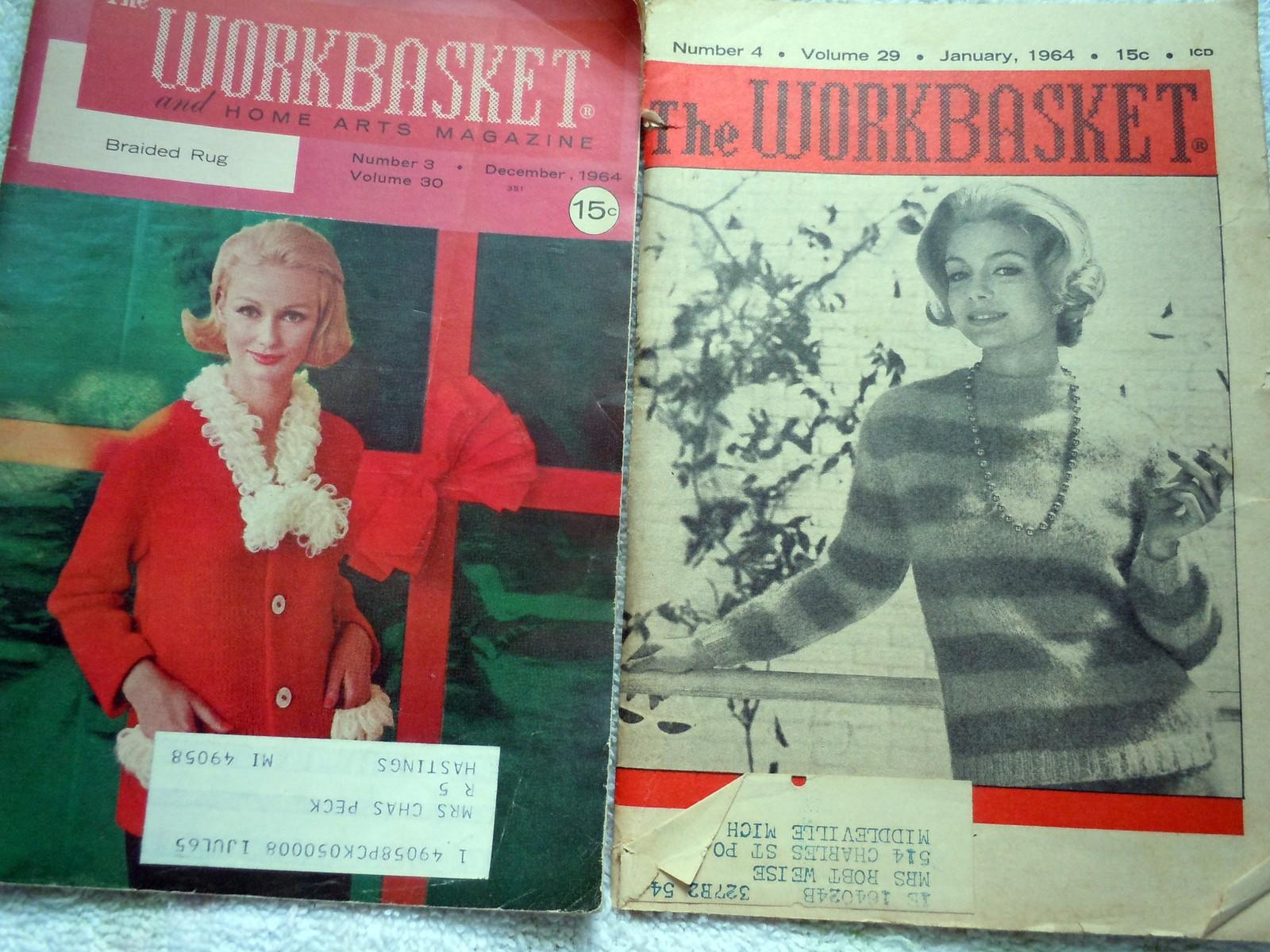 Vintage the Workbasket January 1964 & December 1964 - $5.99