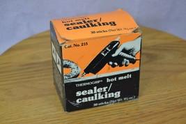 Vintage Box of 30 Thermogrip Hot Melt Sealer / Caulking Strips Catalog N... - $26.39
