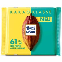 Ritter Sport 61% COCOA Fine German chocolate bar -100g-FREE US SHIPPING - $7.71