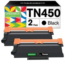 GREENBOX Compatible Toner Cartridge Replacement for Brother TN450 TN-450 TN420 T