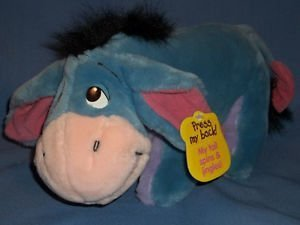 "WINNIE THE POOH EEYORE PLUSH SPINNING Jingles TAIL 12"" x 7"""