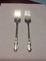 Rogers Oneida Chatelaine-Park Lane-Dowry Salad Fork Lot Of 2 Silverplate... - $9.99