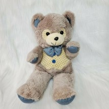 "20"" Vintage MTY International Teddy Bear Taupe Cream Bird Paws Plush Toy... - $49.99"