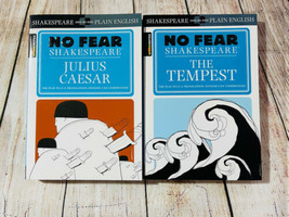 No Fear Shakespeare Lot Julius Caesar, The Tempest  Spark Notes Plain En... - $11.87
