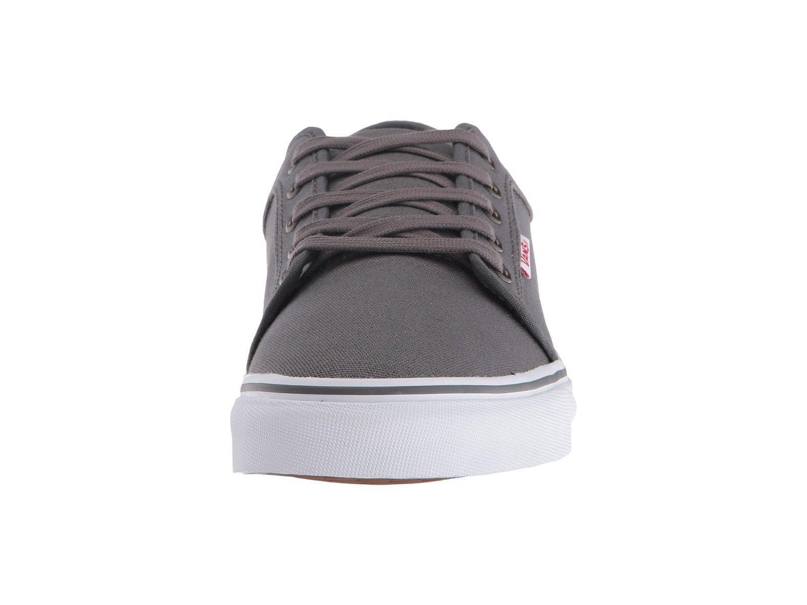 VANS Chukka Low Pewter/White/Red Skate Shoes MEN'S 6.5 WOMEN'S 8 image 3