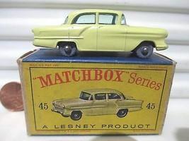 Lesney Matchbox 1958 RW45A Yellow Vauxhall Victor Car GPW Green Windows ... - $187.11