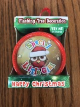 New Happy Christmas Tree Flashing Deocration Ornament LED lights Round - $11.86