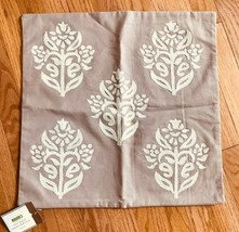 Pottery Barn Kyla Pillow Cover Lavender 18x18 sq Embroidered Floral Medallion - $39.50