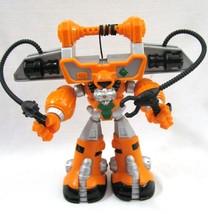 Rescue Heroes Diver Bot Action Figure 2004 Orange Bumperbot Robotz Hook ... - $14.84