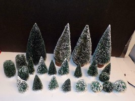 DEPT 56 - 23 BRUSH TREES-USED IN EXCELLENT CONDITION - $17.82