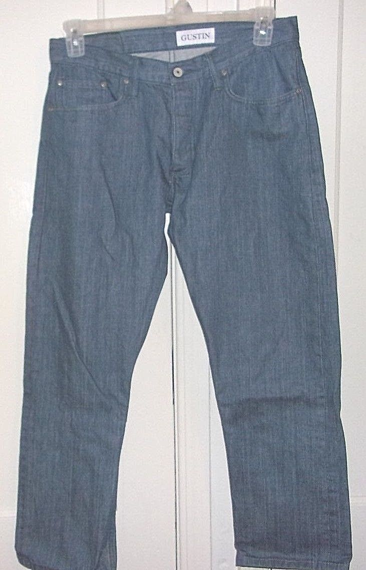 Primary image for Gustin Mens W 34in. X L 26in. Slim Fit 100% Cotton Button Fly Jeans