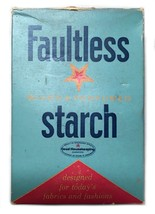 Vintage Faultless Blued Perfumed Starch Box Full Laundry - $34.64