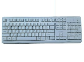 iRiver Korean English USB Wired Keyboard Membrane with Cover Protector (White) image 2