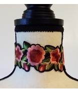 FLORAL EMBROIDERED CHOKER NECKBAND  - $17.00