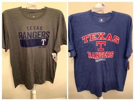 Texas Rangers MLB baseball T-SHIRT men grey blue Sz XL, 2XL, 3XL Coopers... - $18.95