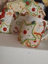 Fitz And Floyd Cookies For Santa Merry Christmas Plate & Mug Set NIB - $50.00