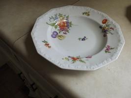 Rosenthal Flowers 9 3/4 dinner bowl 4 available - $9.70