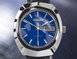 Citizen Vintage Mens Blue 17 Jewels Manual Wind 1970s 37mm Japanese Watc... - $692.01