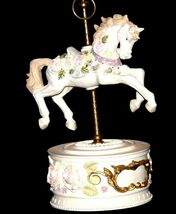 Horse Carousel Music Box (1980's) Works AA18-1631 Vintage image 5