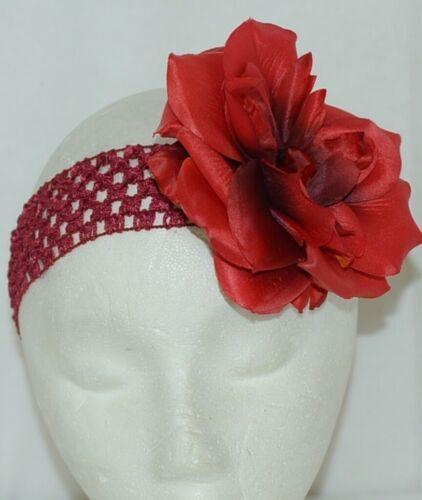 Unbranded Girl Infant Toddler Headband Removable Hair Rose Flower Clip