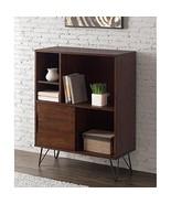 ModHaus Living Mid Century Modern Wooden Bookshelf Media Console Cabinet... - $291.66