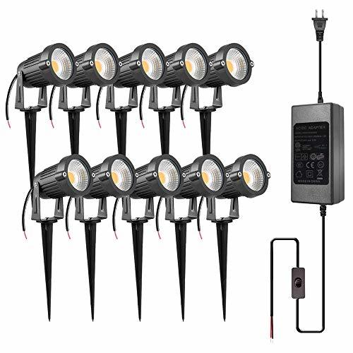 ZUCKEO 5W LED Landscape Lights With Transformer 12V 24V