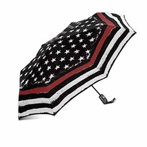 InterestPrint Tattered Flag Red Line Fire Fighter Flag- Windproof Compact One Ha - $25.73