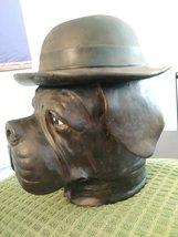 Vintage Bulldog Dog Derby & Cigar Container Dish Figurine Tobacco Jar Humidor Co image 3