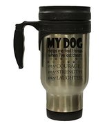 My Dog Helps Me Find Things 12 Oz Stainless Steel Hot/Cold Travel Mug - $16.78