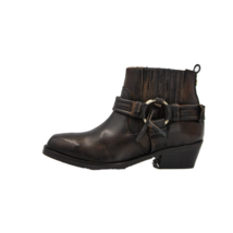 DIESEL Squar Harless Womens Leather Boot Brown Size 7.5 - $85.49
