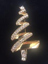 Monet Mod Rhinestone Christmas Tree Pin / Brooch - $12.86