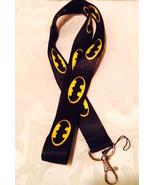 Batman Signal Black and Yellow  Lanyard Strap One Piece Cell Phone Key C... - $6.00