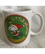 Peanuts Woodstock Mug Cup Snoopy Christmas Holiday Santa's Little Helper... - $11.87