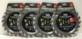 "(New) DO IT Best 346519  Framing/Ripping  Saw Blade 6-1/2"" 20T Lot of 4 - $45.53"