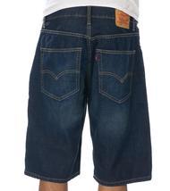 Levi's Men's Premium Cotton Loose Straight Denim Shorts Dark Blue 569-0027 image 4