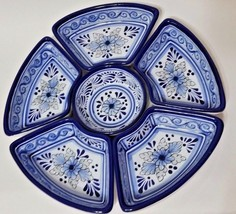 "Talavera Style Condiment Sectional - 6 Pc Set - 11"" Put Together x 1/2"" ... - $29.99"