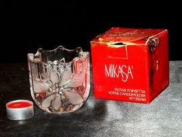 Milkasa Festive Poinsettia Votive Candle Holder AA19-1608 Vintage image 3