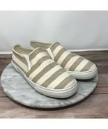 Jack Rogers Jane Womens Size 6 Beige/Tan Striped Slip On Casual Sneakers - $29.95