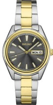 Seiko Essentials Watch  Black Analog Dial Date Display Two-Tone Stainles... - $220.00