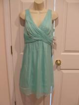NWT $120 Simply Liliana MINT Sleeveless V-Neck Chiffon Fit &  Flare Dres... - $51.23