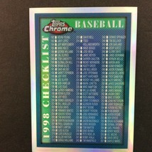 1998 Topps Chrome Refractor Checklist Parallel Card #276 - $3.91