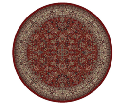 Round Red Oriental Classic Persian Area Rug, Sarouk, Colorfast - 5' X 3'... - $124.94