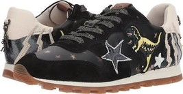 Coach Women's Leather Shoes Sneakers With Patches C125 Runner Rexy Black Ivory