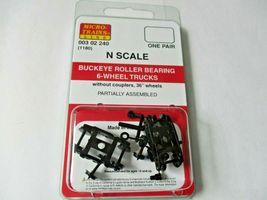 Micro-Trains Stock # 00302240 (1180) Buckeye Roller Bearing 6-Wheel Trucks (N) image 4