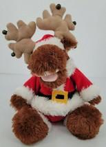 PBC International Brown Christmas Moose Sings Jingle Bell Rock Stuffed P... - $24.70