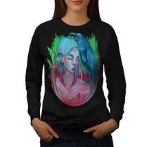 Girl Grass Crow Calm Face Jumper  Women Sweatshirt - $18.99
